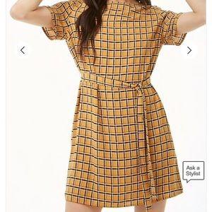 Forever 21 Plaid Belted Mini Dress NWOT